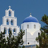 Santorini - Pyrgos : Pyrgos is situated 8 km southeast of Fira. The village was built on the top of a hill and present an incredible panoramic view of the whole island. The village has a population of 500 inhabitants, and used to be the capital of the island until the early 1800s, The village is formed by traditional houses built all around the Venetian castle, and the small streets follow the shape of the hill.